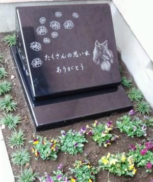 自宅庭のペットのお墓